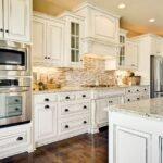 beyaz rustik mutfak modeli