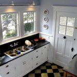 beyaz vintage mutfak dekorasyonu