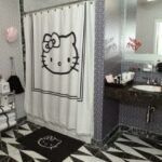 hello kitty li banyo perdesi modeli