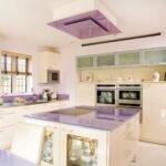 lila renk mutfak modelleri