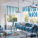mavi beyaz ev dekorasyonu modelleri