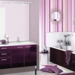 mor banyo dekorasyon modelleri