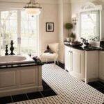 siyah beyaz banyo dekorasyon modeli