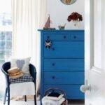 mavi beyaz contry ev dekorasyonu
