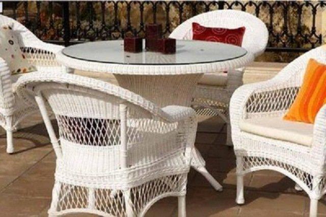 Rattan balkon takimlari  beyaz rattan balkon masa sandalye modeli | Dekozin – Dekorasyonda ...