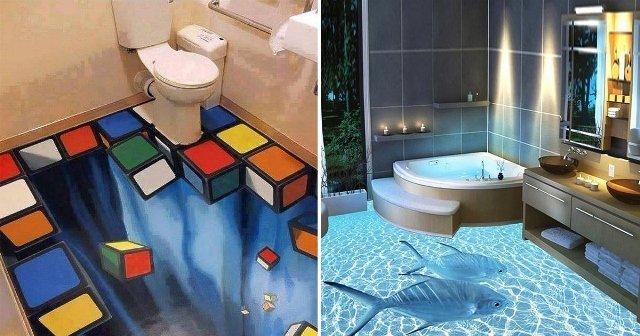 3 Boyutlu Banyo Zeminleri