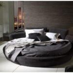 siyah yuvarlak yatak modeli
