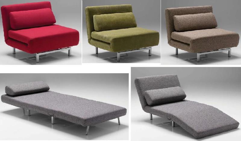Yatak olan tekli koltuk modelleri