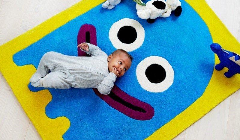 renkl çocuk odası halı modeli