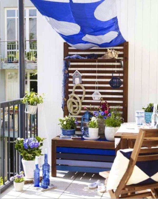 marin balkon dekorasyonu