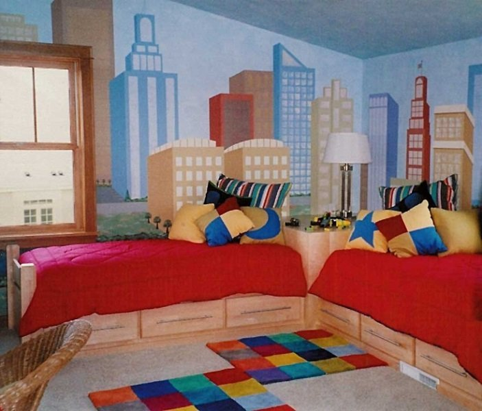 ikizler için oda dekorasyonu