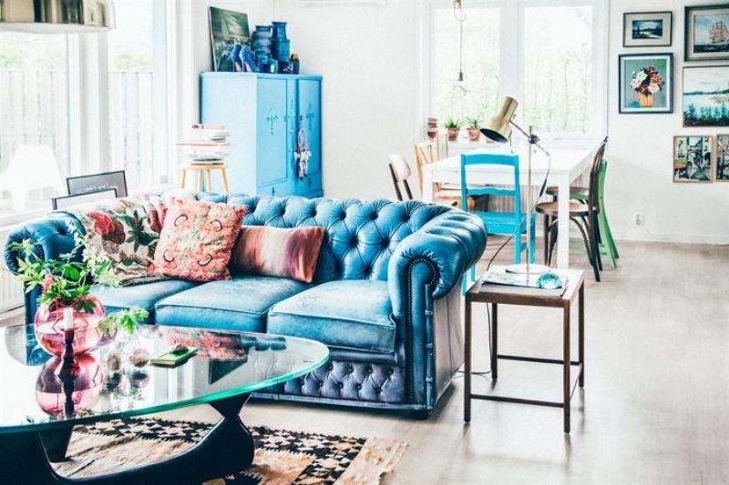 ev dekorasyonunda mavi modası