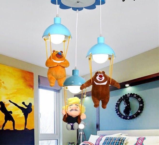 ayıcıklı çocuk odası avize modeli