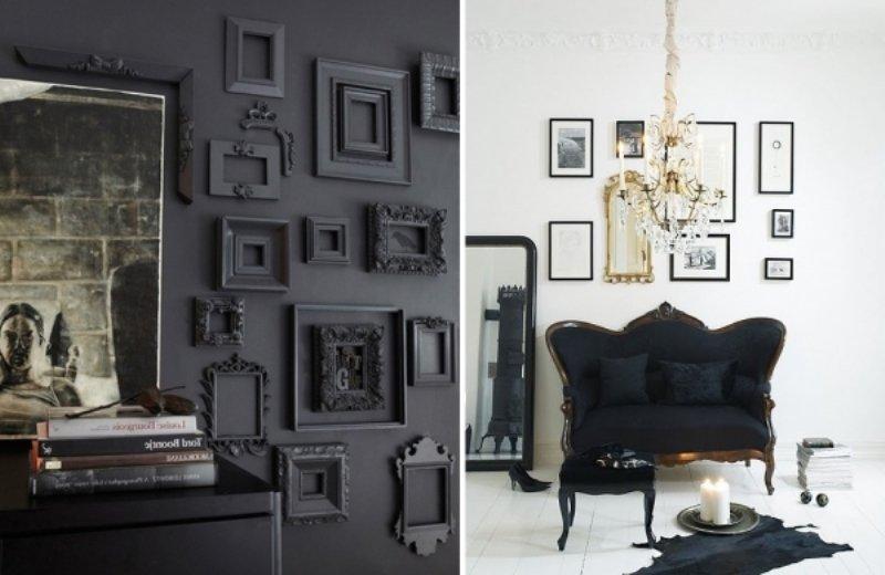 Siyah mobilyalar için dekorasyon önerileri