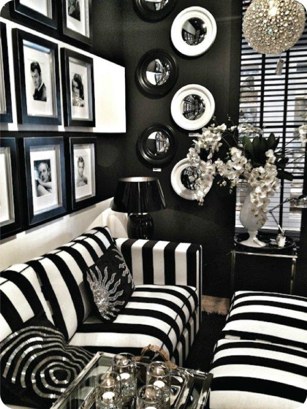 siyah beyaz mobilya modeli