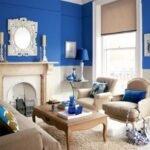 koyu mavi ev dekorasyonu