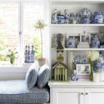 mavi beyaz ev dekorasyonu