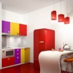 renkli mutfak modeli
