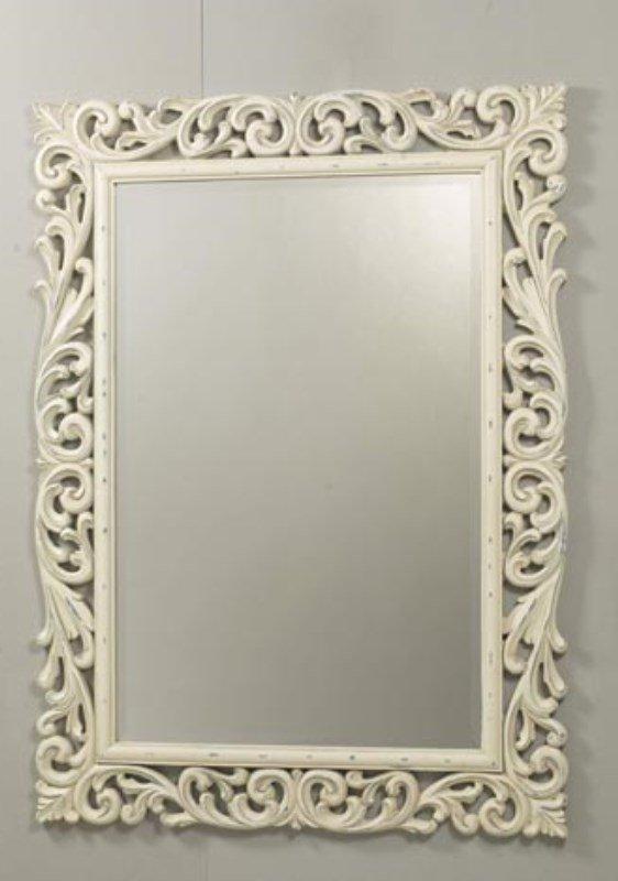 beyaz dekoratif ayna modeli